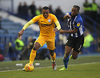 Preston North End's Darnell Fisher  in action with Sheffield Wednesday's Joshua Onomah  <br /> <br /> Photographer Mick Walker/CameraSport<br /> <br /> The EFL Sky Bet Championship - Sheffield Wednesday v Preston North End - Saturday 22nd December 2018 - Hillsborough - Sheffield<br /> <br /> World Copyright &copy; 2018 CameraSport. All rights reserved. 43 Linden Ave. Countesthorpe. Leicester. England. LE8 5PG - Tel: +44 (0) 116 277 4147 - admin@camerasport.com - www.camerasport.com