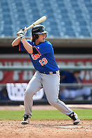 Trevor Jennings (13) Spanish Fort High School in Spanish Fort, Alabama playing for the New York Mets scout team during the East Coast Pro Showcase on August 1, 2014 at NBT Bank Stadium in Syracuse, New York.  (Mike Janes/Four Seam Images)