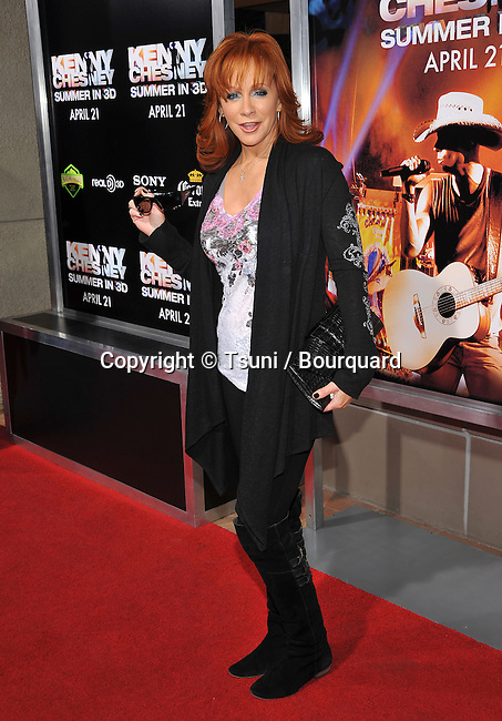 Reba McEntire _23   -<br /> Kenny Chesney: Summer In 3-D Premiere In Las Vegas.