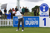 Ashley Chesters (ENG) on the 1st tee during Round 2 of the Open de Espana 2018 at Centro Nacional de Golf on Friday 13th April 2018.<br /> Picture:  Thos Caffrey / www.golffile.ie<br /> <br /> All photo usage must carry mandatory copyright credit (&copy; Golffile | Thos Caffrey)