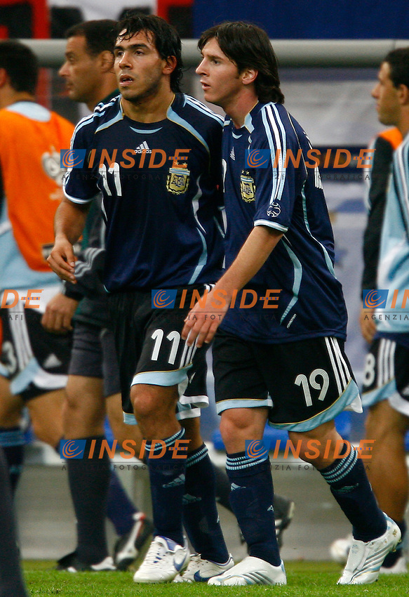 Gelsenkirchen 16/6/2006 World Cup 2006.Argentina Serbia & Montenegro 6-0.Photo Andrea Staccioli Insidefoto.CArlos Tevez Lionel Messi Argentina