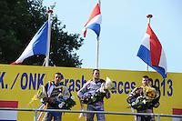 GRASBAANRACES: NOORDWOLDE: 07-07-2013, winnaar Jannick de Jong (#3), ©foto Martin de Jong