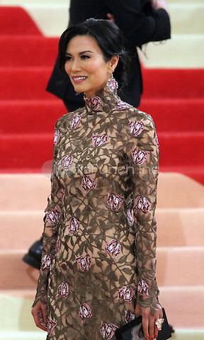 05 02 2016: Wendi Deng Murdoch at Manus X Machina: Fashion In An Age of Technology at Metropolitan Museum of Art in New York. Credit:RWMediaPunch