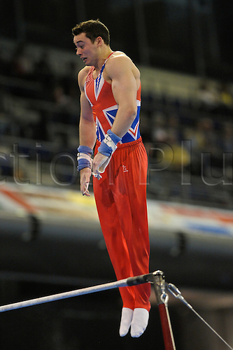 07.04.2011 European Championships Artistic Gymnastics from Berlin.Mens Qualifications.Kristian Thomas of GB
