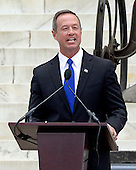 Governor Martin O'Malley (Democrat of Maryland) makes remarks at the Let Freedom Ring ceremony on the steps of the Lincoln Memorial to commemorate the 50th Anniversary of the March on Washington for Jobs and Freedom<br /> Credit: Ron Sachs / CNP