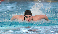 Helena Glasson winning the Final of the Women 100SC meter Butterfly, at the New Zealand Short Course Swimming Championships, National Aquatic Centre, Auckland, New Zealand, Friday 4th October 2019. Photo: Brett Phibbs/www.bwmedia.co.nz/SwimmingNZ
