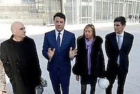 Roma, 2 Marzo 2016<br /> Massimiliano Fuksas e Matteo Renzi<br /> Il Presidente del Consiglio visita il cantiere della Nuvola di Fuksas