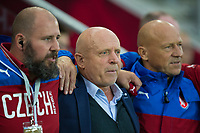Czech Republic's Head Coach Karel Jarolim (centre) <br /> <br /> <br /> Photographer Craig Mercer/CameraSport<br /> <br /> FIFA World Cup Qualifying - European Region - Group C - Northern Ireland v Czech Republic - Monday 4th September 2017 - Windsor Park - Belfast<br /> <br /> World Copyright &copy; 2017 CameraSport. All rights reserved. 43 Linden Ave. Countesthorpe. Leicester. England. LE8 5PG - Tel: +44 (0) 116 277 4147 - admin@camerasport.com - www.camerasport.com