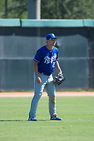 Kansas City Royals left fielder Eric Cole (27) during an Instructional League game against the Chicago White Sox at Camelback Ranch on September 25, 2018 in Glendale, Arizona. (Zachary Lucy/Four Seam Images)