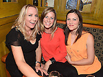 Ann McGlew, Fiona Price and Ellen Boylan pictured at the sponsored waxing to raise money for the Chance For Alice fund in the Dunleer Inn.  Photo:Colin Bell/pressphotos.ie