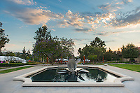 Occidental College Gilman Memorial Fountain, June 10, 2016.<br />