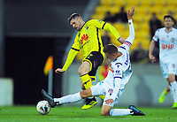 Gary Hooper in action during the A-League football match between Wellington Phoenix and Perth Glory at Westpac Stadium in Wellington, New Zealand on Sunday, 27 October 2019. Photo: Dave Lintott / lintottphoto.co.nz