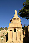 Israel, Jerusalem, Absalom's Tomb in Kidron valley, a burial monument from the Second Temple period