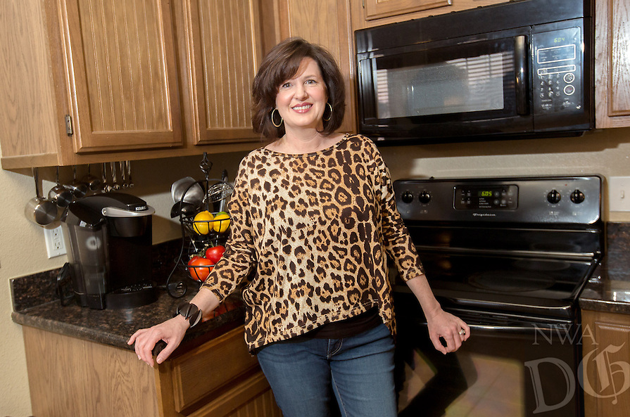 NWA Democrat-Gazette/JASON IVESTER --02/25/2015--<br /> Angie Brooks; photographed on Wednesday, Feb. 25, 2015, in her favorite place -- the kitchen of her Pea Ridge home
