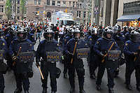 Toronto G 20 Protest Police Line Police Presence G 20 Protest Front Line Riot Police RCMP