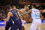 Turkish Airlines Euroleague 2017/2018.<br /> Regular Season - Round 23.<br /> FC Barcelona Lassa vs R. Madrid: 74-101.<br /> Juan Carlos Navarro, Walter Tavares &amp; Jeffery Taylor.