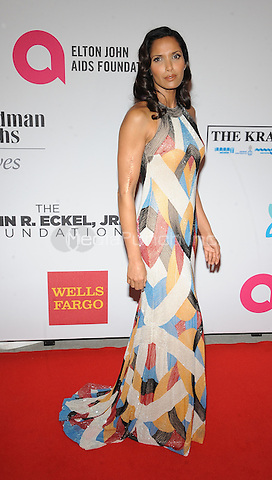 New York,NY- October 28: Padma Lakshmi attends the Elton John AIDS Foundation's 13th Annual An Enduring Vision Benefit at Cipriani Wall Street on October 28, 2014 in New York City In New York City on October 27, 2014 . Credit: John Palmer/MediaPunch