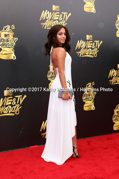 LOS ANGELES - MAY 7:  Isabela Mona at the MTV Movie and Television Awards on the Shrine Auditorium on May 7, 2017 in Los Angeles, CA