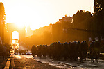 The peloton on the Champs-Elysees during Stage 21 of the 2019 Tour de France running 128km from Rambouillet to Paris Champs-Elysees, France. 28th July 2019.<br /> Picture: ASO/Pauline Ballet | Cyclefile<br /> All photos usage must carry mandatory copyright credit (© Cyclefile | ASO/Pauline Ballet)