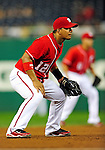 24 September 2010: Washington Nationals infielder Alberto Gonzalez in action against the Atlanta Braves at Nationals Park in Washington, DC. The Nationals defeated the Braves 8-3 to take the first game of their 3-game series. Mandatory Credit: Ed Wolfstein Photo