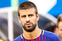 EAST RUTHERFORD, EUA, 22.07.2017 - JUVENTUS-BARCELONA - Piqué do Barcelona (ESP) durante partida contra a Juventus (ITA) valido pela Internacional Champions Cup no MetLife Stadium na cidade de East Rutherford nos Estados Unidos neste sábado, 22.(Foto: William Volcov/Brazil Photo Press)