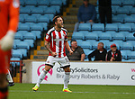 Billy Sharp of Sheffield Utd celebrates his goal during the English League One match at Glanford Park Stadium, Scunthorpe. Picture date: September 24th, 2016. Pic Simon Bellis/Sportimage