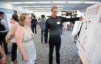 "Robert Jertberg '17 presents ""Harmony of the Senses""<br /> Occidental College's Undergraduate Research Center hosts their annual Summer Research Conference on Aug. 4, 2016. Student researchers presented their work as either oral or poster presentations at the final conference. The program lasts 10 weeks and involves independent research in all departments.<br /> (Photo by Marc Campos, Occidental College Photographer)"