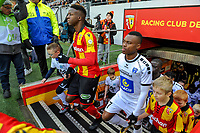 20191221 - LENS , FRANCE : Lens's Zakaria Diallo (5) and Niort's David Djigla (7) pictured during the soccer match between Racing Club de LENS and Niort , on the 19 th matchday in the French Ligue 2 at the Stade Bollaert Delelis stadium , Lens . Saturday 21 December 2019. PHOTO STIJN AUDOOREN   SPORTPIX.BE