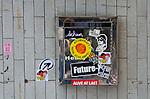 Hong Kong urban scene grafitti on mailbox
