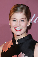 PALM SPRINGS, CA, USA - JANUARY 03: Rosamund Pike arrives at the 26th Annual Palm Springs International Film Festival Awards Gala Presented By Cartier held at the Palm Springs Convention Center on January 3, 2015 in Palm Springs, California, United States. (Photo by David Acosta/Celebrity Monitor)