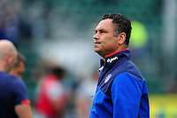 Bath Rugby Head Coach Tabai Matson looks on during the pre-match warm-up. Aviva Premiership match, between Bath Rugby and Worcester Warriors on September 17, 2016 at the Recreation Ground in Bath, England. Photo by: Patrick Khachfe / Onside Images