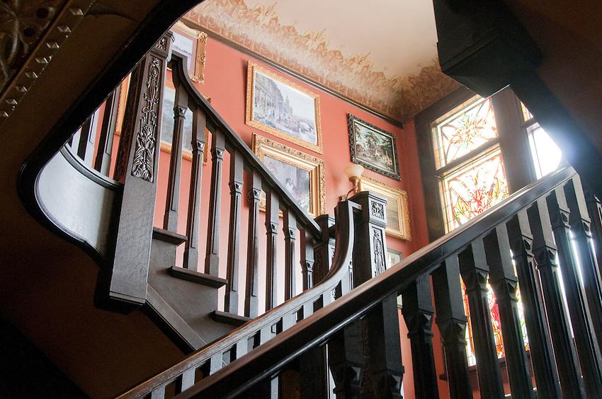 Interior details of the Laurium Manor Inn in Laurium Michigan.