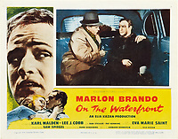 On the Waterfront (1954) <br /> Lobby card with Rod Steiger &amp; Marlon Brando<br /> *Filmstill - Editorial Use Only*<br /> CAP/MFS<br /> Image supplied by Capital Pictures