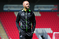 Mike van der Hoorn of Swansea City arrives for the pre season friendly match between Exeter City and Swansea City at St James Park in Exeter, England, UK. Saturday, 20 July 2019