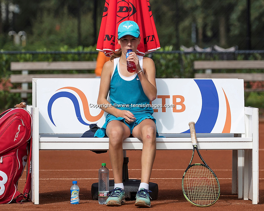 Hilversum, Netherlands, August 13, 2016, National Junior Championships, NJK, Anouk Koevermans (NED)<br /> Photo: Tennisimages/Henk Koster