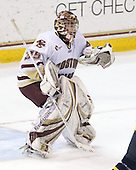 Parker Milner (BC - 35) - The Boston College Eagles defeated the Merrimack College Warriors 7-0 on Tuesday, February 23, 2010 at Conte Forum in Chestnut Hill, Massachusetts.