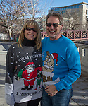 Rhonda and Dave during the Ugly Sweater Wine Walk in downtown  Reno on Saturday, Dec. 16, 2017.
