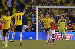 BARRANQUILLA – COLOMBIA _ 11-10-2013 / La selección colombiana de fútbol empató 3 – 3 con su similar de Chile por la decimoséptima jornada de la eliminatorias rumbo al mundial de Brasil 2014. / Radamel 'Falcao' García celebra el segundo gol de la Selección Colombia.