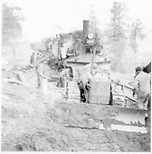 Using bulldozer to clear Animas Canyon rockslide for D&amp;RGW #476 which may have derailed.<br /> D&amp;RGW  Animas Canyon, CO  Taken by Norwood, John B. - 3/29/1952