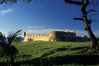 AJ2299, Dominican Republic, fort, Puerto Plata, Caribbean, Scenic view of Fort of San Felipe in the Dominican Republic.