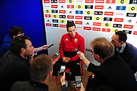 Harry Wilson of Wales during the Wales press conference at St Fagans in Cardiff, Wales, UK. Tuesday 09 October 2018