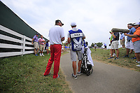 Michael Block (USA) near the fence for his 2nd shot on the 9th hole during Thursday's Round 1 of the 2014 PGA Championship held at the Valhalla Club, Louisville, Kentucky.: Picture Eoin Clarke, www.golffile.ie: 6th August 2014
