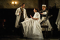 London, UK. 15.11.2013. IN THE NEXT ROOM or the vibrator play, opens at St James' Theatre, after a successful run at Theatre Royal Bath, Ustinov Studio. Picture shows: Jason Hughes (Dr Givings), Flora Montgomery (Sabrina Daldry) and Sarah Woodward (Annie). Photograph © Jane Hobson.