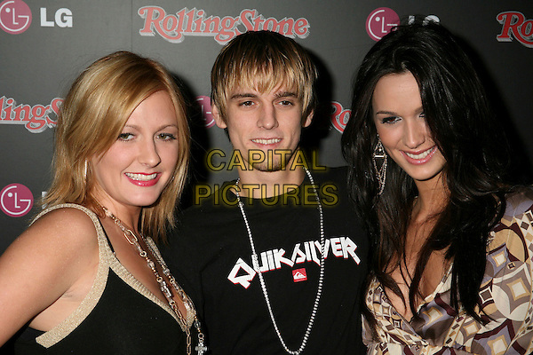 BOBBIE JEAN CARTER, AARON CARTER & ANGEL CARTER.Rolling Stone Magazine Celebrates the 20th Annual HOT LIST at the Sofitel Hotel's Stone Rose Lounge, Los Angeles, California, USA..October 3rd, 2006.Ref: ADM/BP.headshot portrait.www.capitalpictures.com.sales@capitalpictures.com.©Byron Purvis/AdMedia/Capital Pictures.