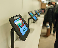 Prepared foods ordering kiosks in the new Whole Foods Market opposite Bryant Park in New York on opening day Saturday, January 28, 2017. The store in Midtown Manhattan is the chain's 11th store to open in the city. The store has a large selection of prepared foods from a diverse group of vendors inside the store.  (© Richard B. Levine)