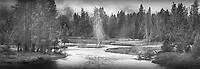 """Misty Frost""  Yellowstone National Park  Firehole River 