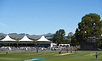 General view of Hagley Park Pavilion during the 5th ODI Blackcaps v England. Hagley Oval, Christchurch, New Zealand. Saturday 10 March 2018. ©Copyright Photo: Chris Symes / www.photosport.nz