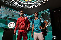 Rotterdam, The Netherlands, 14 Februari 2019, ABNAMRO World Tennis Tournament, Ahoy, Semis, Doubles, Marcel Granollers (ESP) Nikola Mektic (CRO),<br /> Photo: www.tennisimages.com/Henk Koster