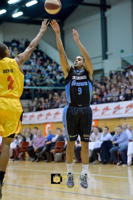 Corey Webster in action during the NBL Pre Season Tour - NZ Breakers v Melbourne Tigers at TSB Arena, Wellington, New Zealand on Thursday 12 September 2013. <br /> Photo by Masanori Udagawa.<br /> www.photowellington.photoshelter.com