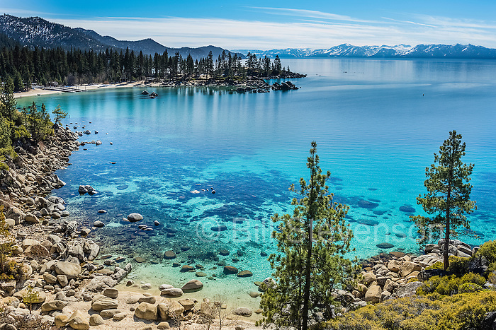A photo of Sand Harbor at Lake Tahoe.